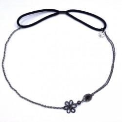 Headband - Bijou de tête fleurs (gris)