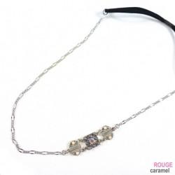 Headband - Bijou motif fantaisie sur le côté (gris)