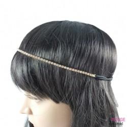 Heand - Bijou de tête avec 1 rang de strass (doré)