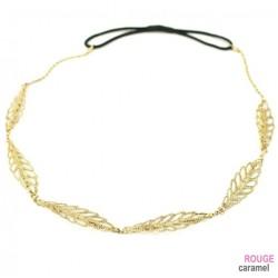 Headband - Bijou motif feuille (bronze)