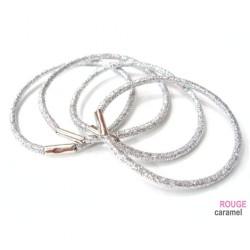 Elastique - Lot de 6 élastiques cheveux lurex (argenté)