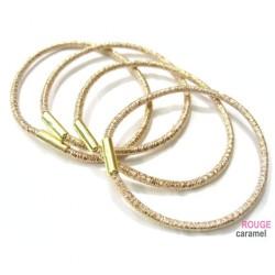 Elastique - Lot de 6 élastiques cheveux lurex (doré)